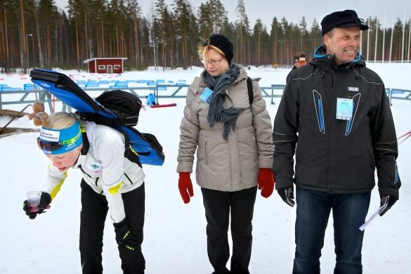 Flunssainen Kaisa Mäkäräinen kilpaili ampumahiihdon SM-kisoissa Kontiolahdella.